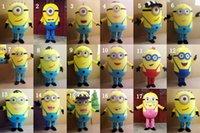 Despicable Me Minion DHL costume de mascotte pour adultes Despicable Me Mascot 17 Styles de haute qualité Nouvelles