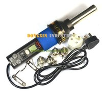 Cheap free ship 220V-240V 450 Degree LCD Adjustable Electronic Heat Hot Air Gun Desoldering Soldering Station IC SMD BGA + 4 8018LCD A3