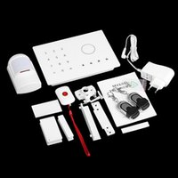 Wholesale Home Sensors Security Wireless GSM SMS Burglar Alarm Access Control System Touch Keyboard Support Smart Phone App