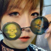 poker sunglasses - John Lennon Style Hologram Poker Eye Glasses D Sunglasses Novelty Funny Eyeglasses Dollar Lizard Eye Skull Love