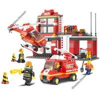 Cheap Sluban Building Blocks Toy Best City Rescue Fire Fighter Station
