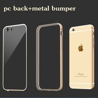 "For Apple iPhone Metal Gold Luxury Hard Metal Aluminum Bumper Soft Transparent PC Back Cover Case For Apple iphone 6 6S Plus 4.7"" 5.5"" Case Original Brand Mobile Phone"