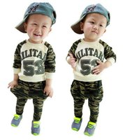 Cheap Spring Baby boys Clothing set Long Sleeve T shirt + Harem Pants 2pcs Boys Casual Set Children Camouflage Suit