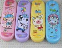 Wholesale pencil case happy hour animal cartoon cartoon expression Double plastic pencil case stationery boxes15090203