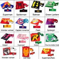 band superman - Superhero Cape mask arm bands Superman Batman Spiderman teenage Mutant Ninja Turtle Frozen Flash Supergirl Batgirl Robin kids capes mask