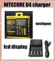 battery charger - Nitecore D4 Digicharger LCD Display Battery Charger Universal Nitecore Charger intelligent in smart charger VS nitecore I4 dhl FJ139