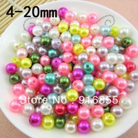 Wholesale Mixed Acrylic Bubblegum Chunky Pearl Imitation Round Spacer Beads mm For Fashion Jewelry Making