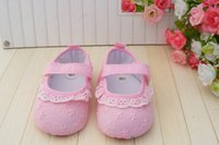 Cheap Charm baby shoes!pink toddler shoes,princess lace embroidered floor shoes,cheap children shoes,non-slip girls walker shoes!6pairs 12pcs