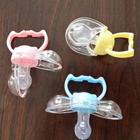 Wholesale Funny Pacifiers Silicone Baby Pacifier Dummy Clips Soother Nipple Toddle Newborn Baby Pacifier Clip Care VT0149 Smileseller