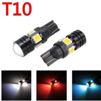 auto focus projector - T10 LED Car LED Auto Lamp W5W V Light bulbs with Projector Lens for Ford Focus Cruze Tiguan Interior Packing