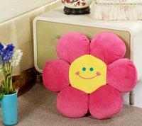 Wholesale cm Lovely Plush Flower Toy doll candy color smiling cushion Pillow home decoration children amp baby gift