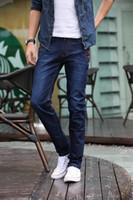 skinny jeans for men - 2015 New Arrival Spring Casual Jeans Men Fashion Slim Fit Men Jeans Light Blue Skinny Pencil Pants Men Fashion Jeans For Men