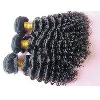 3Bundles Mongolian Remy Hair Weave Extension brésilienne des cheveux humains de la Vierge 8 ~ 28 pouces Deep Curly Hair Available Livraison gratuite