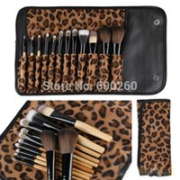 Wholesale New Professional Makeup kits Brush Cosmetic Facial Make Up Set Tools With Leopard Bag Makeup Brush Tools Hot Sales