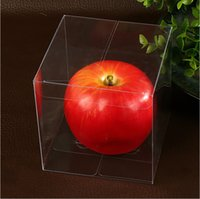 Wholesale 10 x x cm Environmentally Clear PVC Packaging Box Plastic Containers Fruit Candy Cake Gift Boxes In Stock