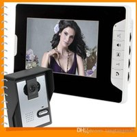 Wholesale 7 Inch Night Vision Digital Color Video Door Phone Intercom Doorbell Doorphone System TFT LCD Touch Pad Monitor Camera A5