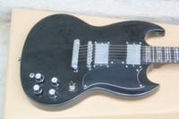 Hot Sale SG Black Cross 24 Tone Position Guitare électrique 6 cordes Guitares EMS Drop Livraison gratuite