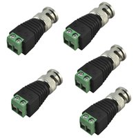 Wholesale Coaxial CAT5 to CCTV Camera BNC Male Connector adapter BNC UTP Video Balun Connector Plug for CCTV Cable