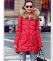Wholesale winter coat women with hood real fur collar down cotton jacket fashion women s clothing thick winter jacket loose wadded jacket