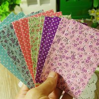 Wholesale 2015 New Arrival DIY Album Photo Scrapbook Color Flower Printed Fabric Sticker Set Home Decoration sets