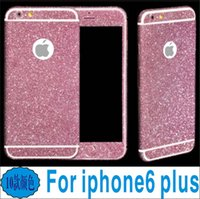 Wholesale New Full Body Glitter Screen Protector Film Shield Matte Bling Skin Shinny Phone Stickers Front Back for iPhone S S S Plus S Plus