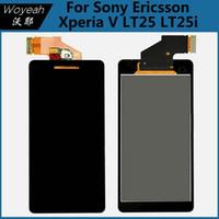 al por mayor xperia v lt25i lcd-Sony Ericsson Xperia V LT25 LT25i pantalla LCD + pantalla táctil digitizador Asamblea Negro teléfono móvil LCD pantalla de reparación