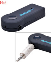 Wholesale Hot Music Receiver Universal mm Streaming Car A2DP Wireless Bluetooth AUX Audio Music Receiver Adapter with Mic For Phone MP3 SV007306