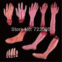 bar tricks free - set Halloween haunted house prop lifelike bar supplies those trick terrorist broken finger hand blood foot