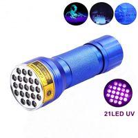 Wholesale SKU766 AloneFire NEW LED UV Light nm LED UV Flashlight blue