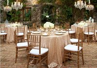 table cloths - 2015 Sequins Round Table Cloths Diameter1 m Sparking Champagne Gold Silver Table Covering For Wedding Party Custom Made Wedding Decorations