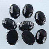 agate cabs lots - x18MM Black Agate Gem Oval Cabochon CAB Jewelry PN738