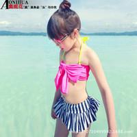 Wholesale 2015 cute Korean girls big bow swimsuit models of children swimsuit manufacturers swimwear children A062334