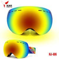 Wholesale Professional Ski Goggles Double Layer Anti fog UV400 Big Spherical Ski Glasses Fits Over Glasses Skiing Men Women Snow Goggles