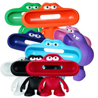 Wholesale 2014 NEW Arrival Pill Speaker Stand Dude Doll Big Mouth Character Holder Stand Case for Portable Pill Speaker