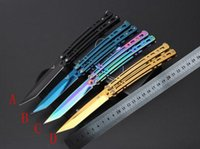 microtech - Balisong Butterfly flail Knife JL BM knife Cr13Mo blade Prototype Survival gear folding knife microtech knives colors