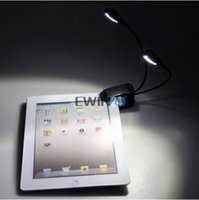 Wholesale Clip on Dual Arm LED Reading Book Music Stand Light Lamp Flexible gooseneck eye protection lights