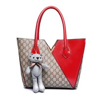 big hand bags - The new Europe and the big bag fashion color leather shoulder bag hand all match diagonal tide seasons boutique