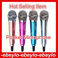 Wholesale Pocket Portable Mini Metal Microphone mm Jack Studio Wired Microphone for Mobile Phone PC Laptop Karaoke microphone