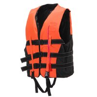 Wholesale Adult Life Jacket Vest PFD Fully Enclose Foam Boating Water Fishing Safety Jackets Colete Salva Vidas With Whistle Size L XL XXL