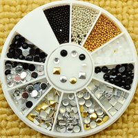 Wholesale 1mm mm Square Round Nail Studs Metal Multisize D Nail Decoration For UV Gel Nail Art