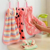 Wholesale Korea coral velvet hanging towel strong absorbent lint free towel kitchen towel washing towels and Retail