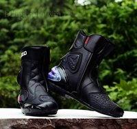 Wholesale 2015 Botas Hombre Motorcycle Boots Pro biker Speed Bikers Moto Racing Motocross Leather Shoes Black red white