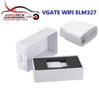 Wholesale VGATE WIFI OBD Multiscan ELM327 For Android PC iPhone iPad Software V2 High quality