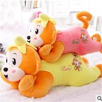 banana hobby - Retail Yiwu DIY cm Banana Monkey Doll Fabrics Toy Pure Cotton Cartoon Animal Baby Monkey Hobbies Stuffed Birthday Gift TY174