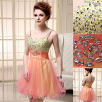 Cheap Reference Images Custom Dresses Best Spaghetti Straps Tulle Free Ship