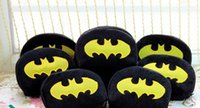 Cheap 6PCS Half-Round Batman Plush Coin Purse & Wallet BAG Pouch CASE Pendant Chain Storage BAG Pouch Case Handbag Pack