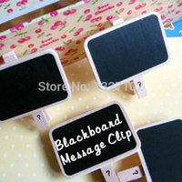 Wholesale Lovely Mini Small Blackboard Message Clip Notice Note Board Photo Stand MTY3