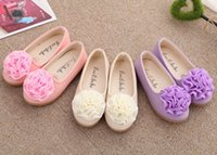 Wholesale 2015 New Kids girls shoes Spring Summer Flower Design Leather shoes Fashion Girl Sandals princess children dance shoes for party