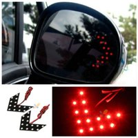 arrow marker lights - 2x LED Arrow Panel For Car Rear View Mirror Indicator Turn Signal Light Red