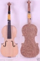 Wholesale One White violin unfinished violin Birdeye maple wood High quality New